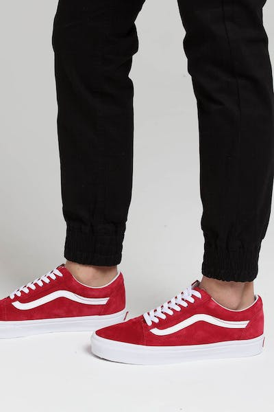 7e7a290da5 Vans Old Skool Pig Suede Red White