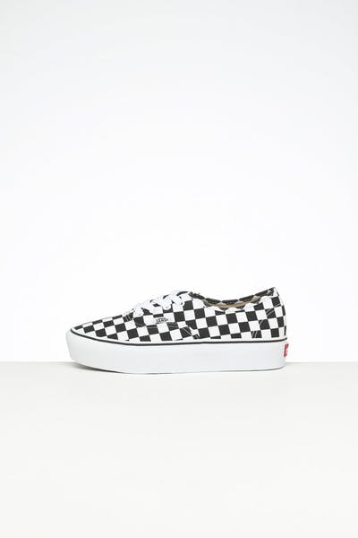 Vans Women's Authentic Platform Check 2.0 White/Black