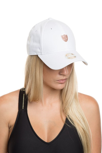 New Era Women's Oakland Raiders TPU 940 Strapback White/Rose Gold