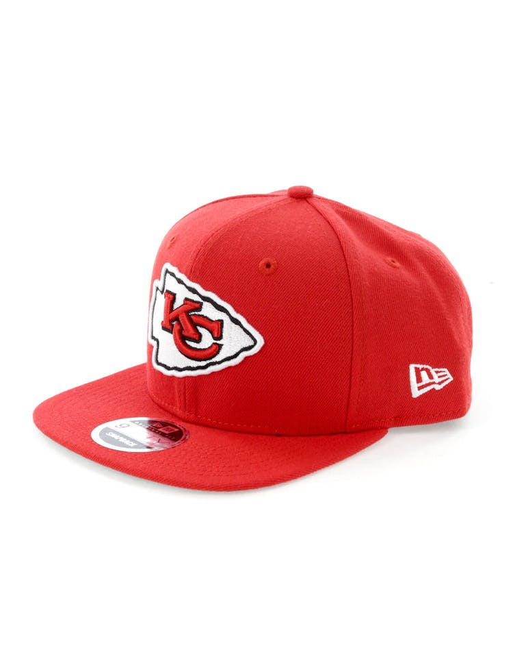 first rate 9eb70 df1f0 New Era Kansas City Chiefs 9FIFTY Original Fit Snapback Scarlet