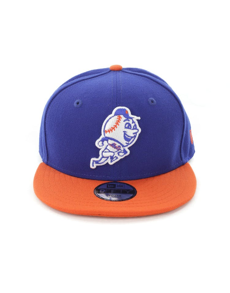 new styles 0f1f1 82491 New Era Youth New York Mets 9FIFTY Snapback Royal Orange – Culture Kings