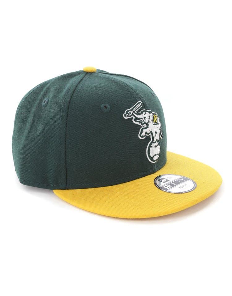 best website 6f50c ba49e New Era Youth Oakland Athletics 9FIFTY Snapback Dark Green