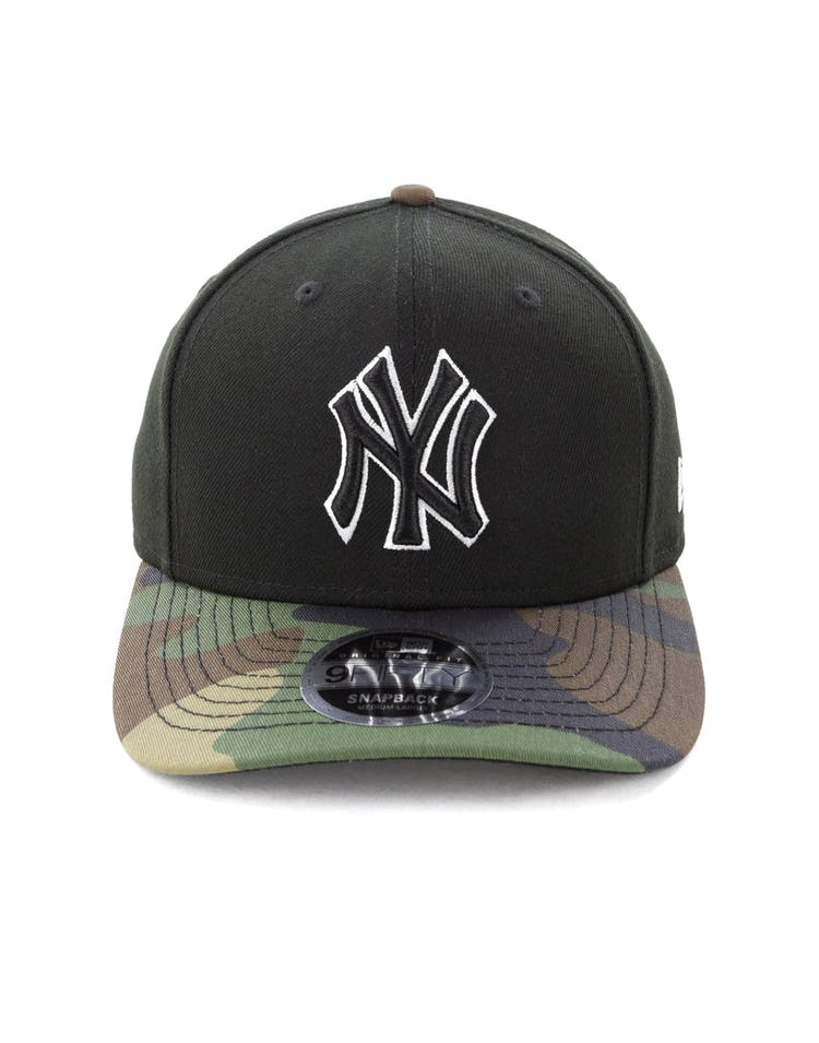 f371289da New Era New York Yankees 9FIFTY Original Fit Precurve Snapback Black Camo