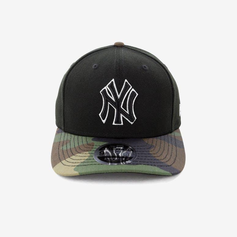 40fb79d3261 New Era New York Yankees 9FIFTY Original Fit Precurve Snapback Black Camo
