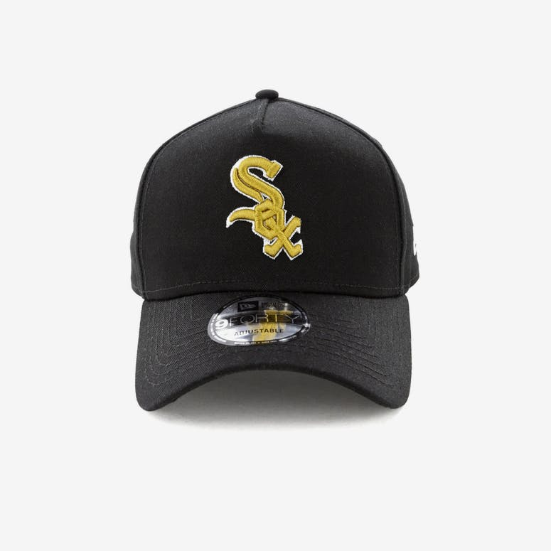 71c18fc1190 New Era Chicago White Sox 9FORTY A-Frame Snapback Black Gold – Culture Kings