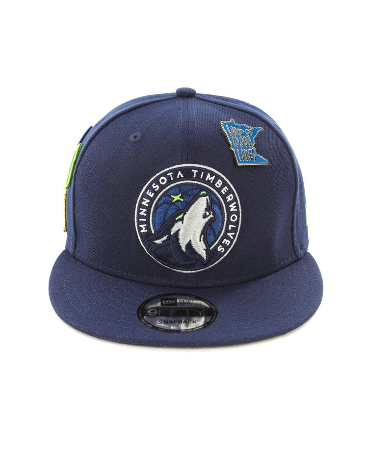 f027a3138 New Era Timberwolves 9FIFTY OTC Draft Snapback Navy – Culture Kings