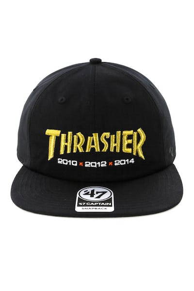 Thrasher x 47 Brand Goldyears Captain RL Snapback Black/Gold