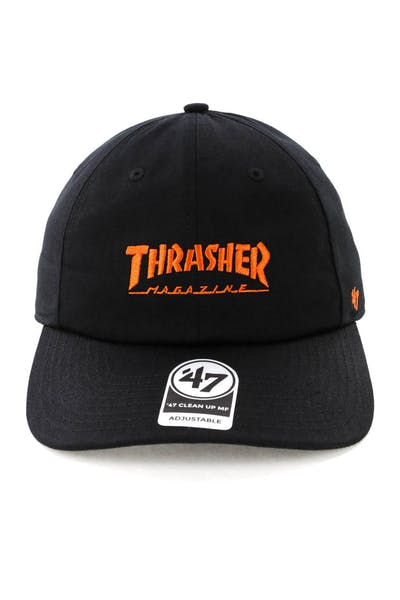 Thrasher x 47 Brand Onboard Clean Up Captain MF Strapback Black/Orange