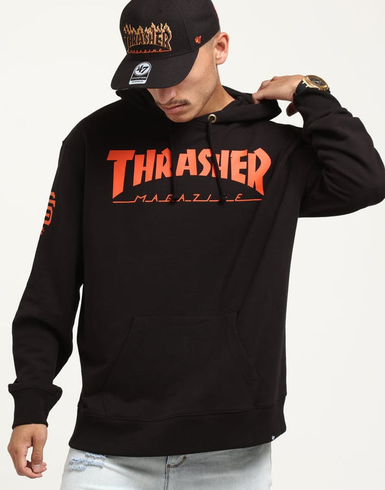 8aae1cd0c7a9f Thrasher 47 Crosstown Striker Icon Hood Black Orange – Culture Kings