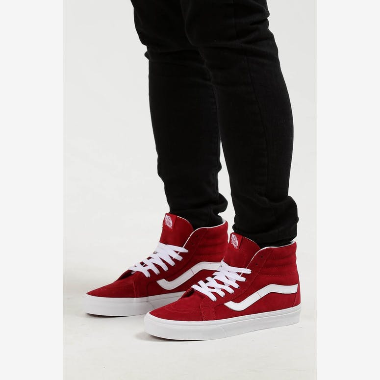 Vans SK8-HI Reissue Pig Suede Red White – Culture Kings d3b5a0dd4