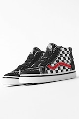 VANS KIDS SK8-HI ZIP BLACK/RED/WHITE