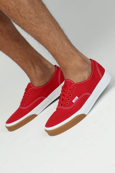 VANS AUTHENTIC (GUM BUMPER) Red/White/Gum