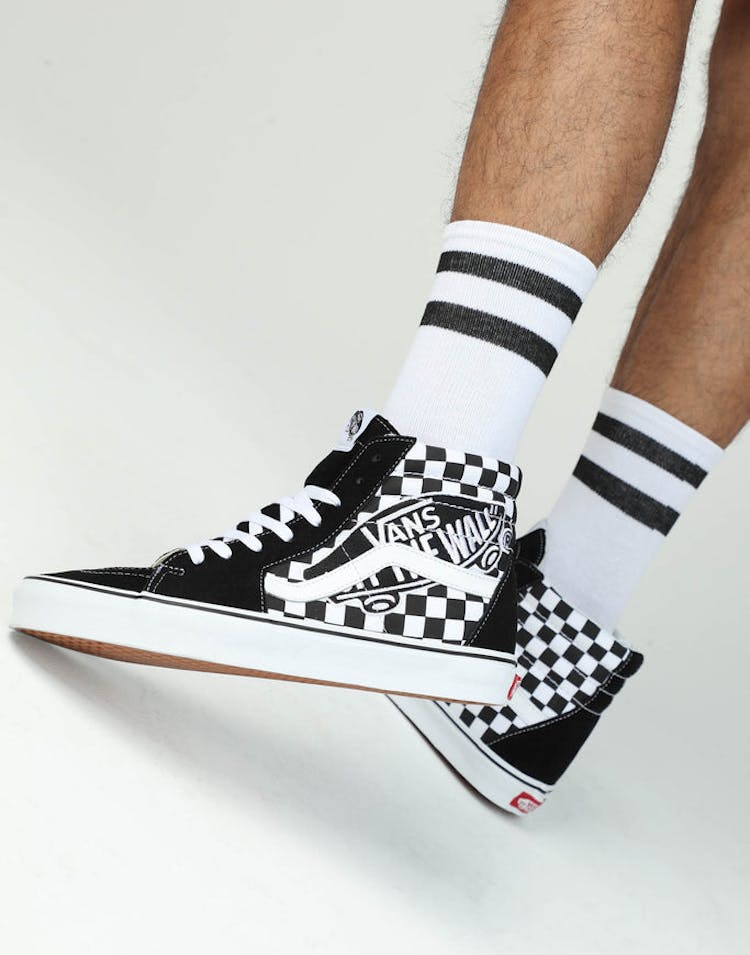 93c9bd8e6d VANS SK8-HI (VANS PATCH) Black White – Culture Kings