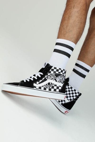 cdca1b061e VANS SK8-HI (VANS PATCH) Black White