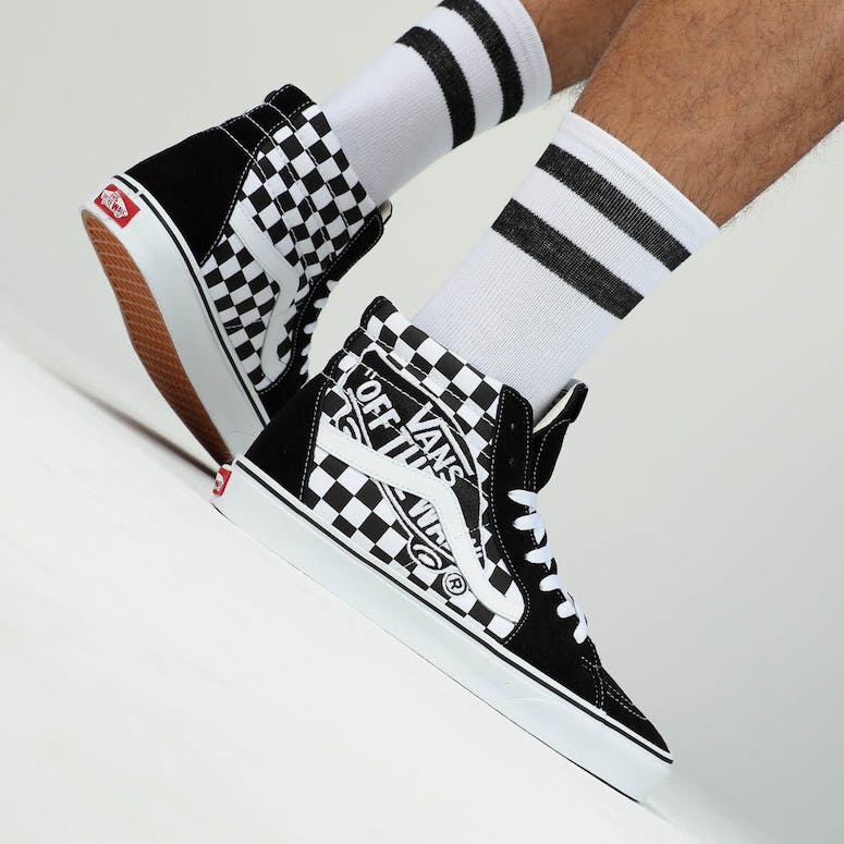 4dba448c1a3c VANS SK8-HI (VANS PATCH) Black White – Culture Kings
