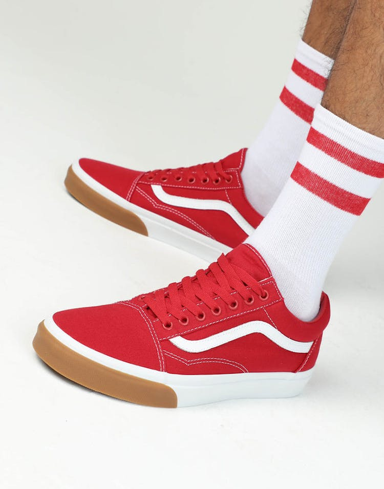 defc7a8d42 VANS Old Skool (Gum Bumper) Red White Gum – Culture Kings