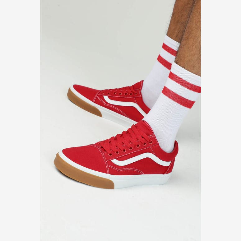 8ac2b2b8396 VANS Old Skool (Gum Bumper) Red White Gum – Culture Kings