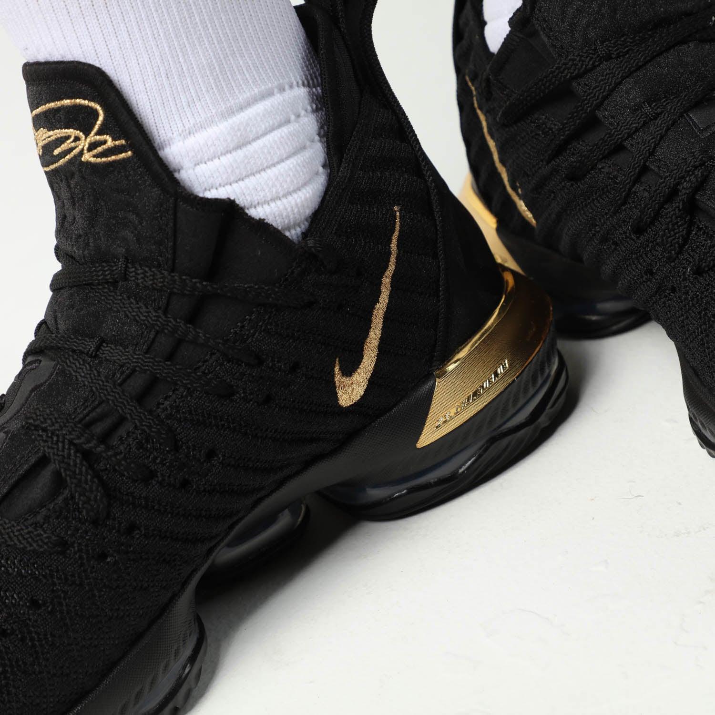 Nike LeBron XVI Black/Gold   Culture Kings