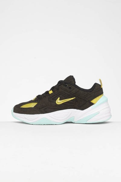 Nike Women's M2K Tekno LX Black/Bright Citron/Teal
