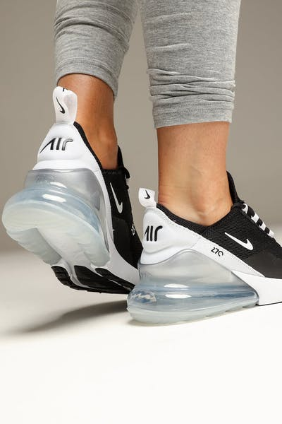 new arrival 92306 48905 Nike Women s Nike Air Max 270 Black White White