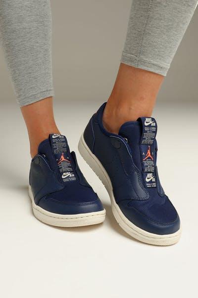 san francisco 00d85 4b8dc Jordan Women s Air Jordan 1 Retro Low Slip Blue Orange