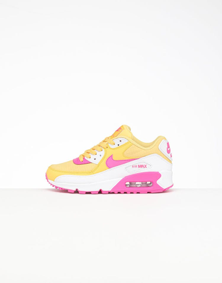 innovative design 70106 d319f Nike Women's Air Max 90 Gold/White/Pink