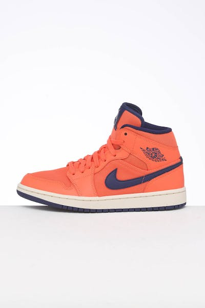 fe88f3d7ba8 Jordan Women's Air Jordan 1 Mid Orange/Blue/Cream ...