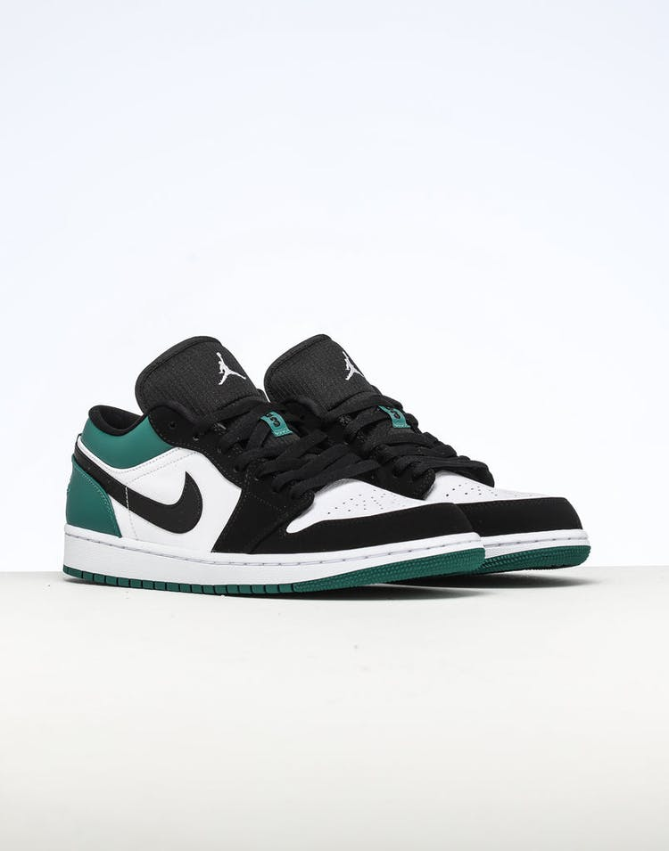 half off 4e0b7 f5fa0 Air Jordan 1 Low White Black Green