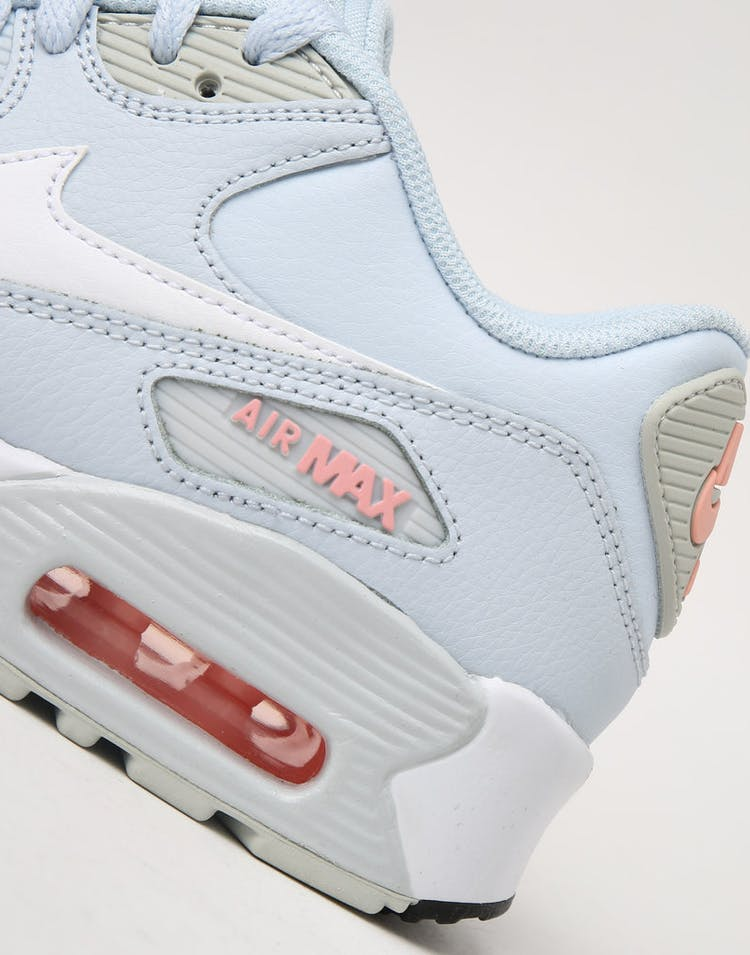 huge discount ab346 96588 Nike Kids Air Max 90 Leather (GS) Half Blue White
