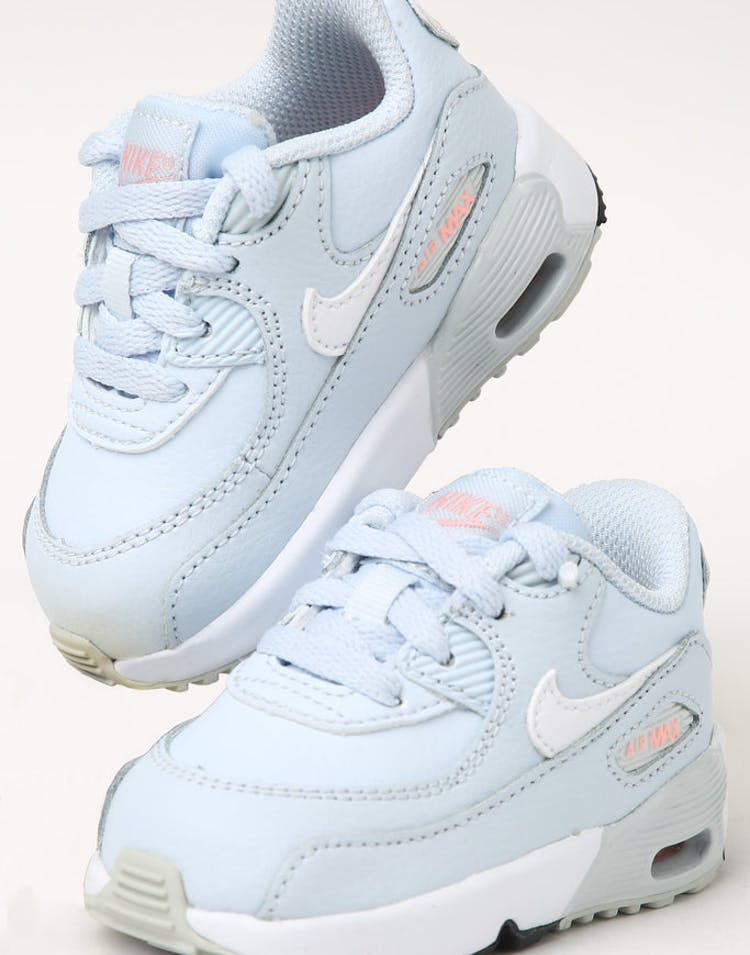online store d30ba 7c73b Nike Toddler Air Max 90 Leather (TD) Half Blue White – Culture Kings