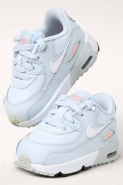 outlet store 1ba40 35bc5 Kids. Nike Toddler Air Max 90 Leather (TD) Half Blue White