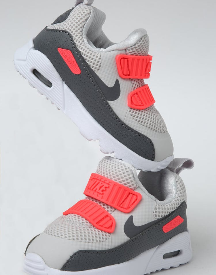 buy popular cdaef 3bde4 Nike Toddler Air Max Tiny 90 (TD) Grey Crimson White – Culture Kings