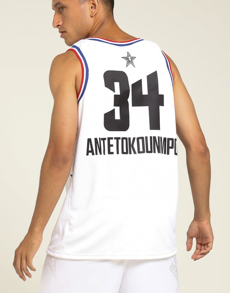 5a1d6cdf1ee1 ASW Giannis Antetokounmpo  34 All-Star Edition Swingman White – Culture  Kings