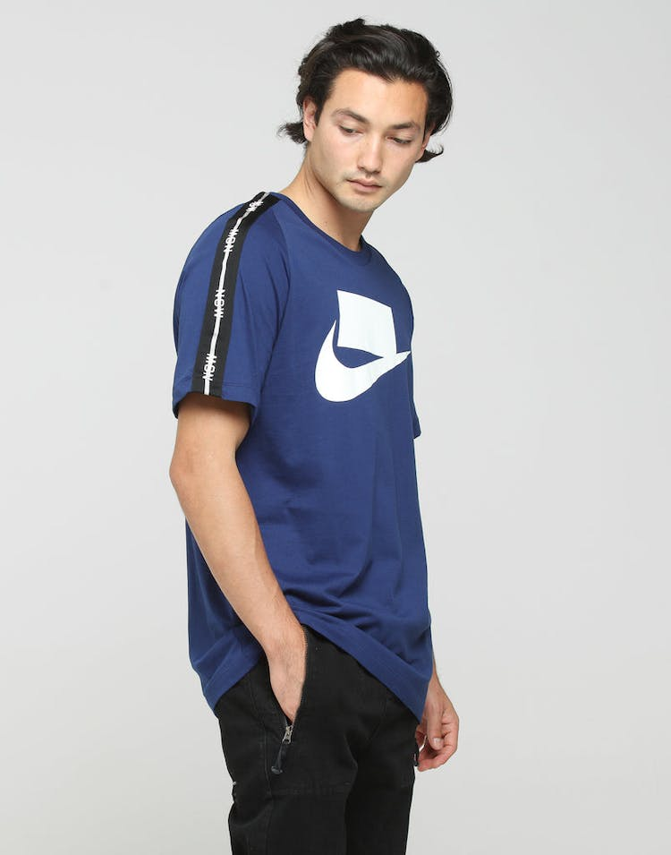 new concept e5413 56411 Nike NSW 2 SS Tee Blue White – Culture Kings