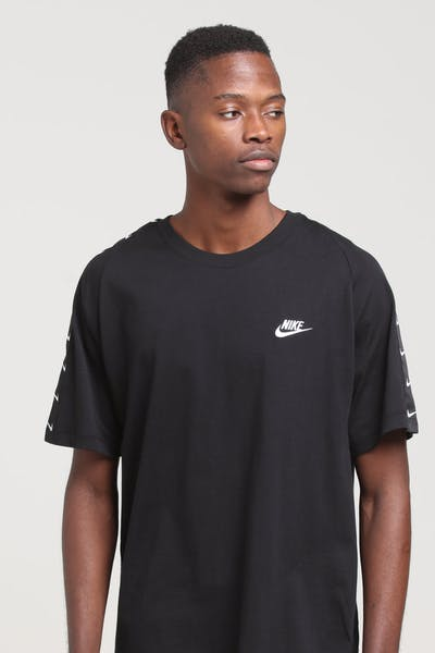 162be06c7694 Nike Sportswear Swoosh SS Tee Black White
