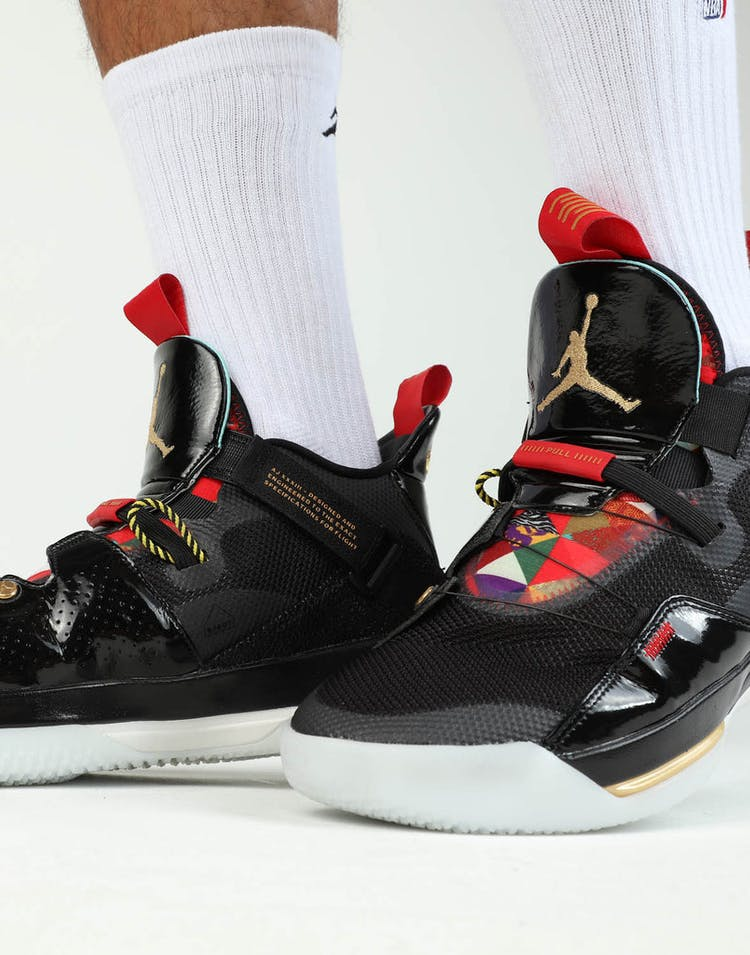 0ee1d5cd959af0 Jordan Air Jordan XXXIII Black Gold Red – Culture Kings