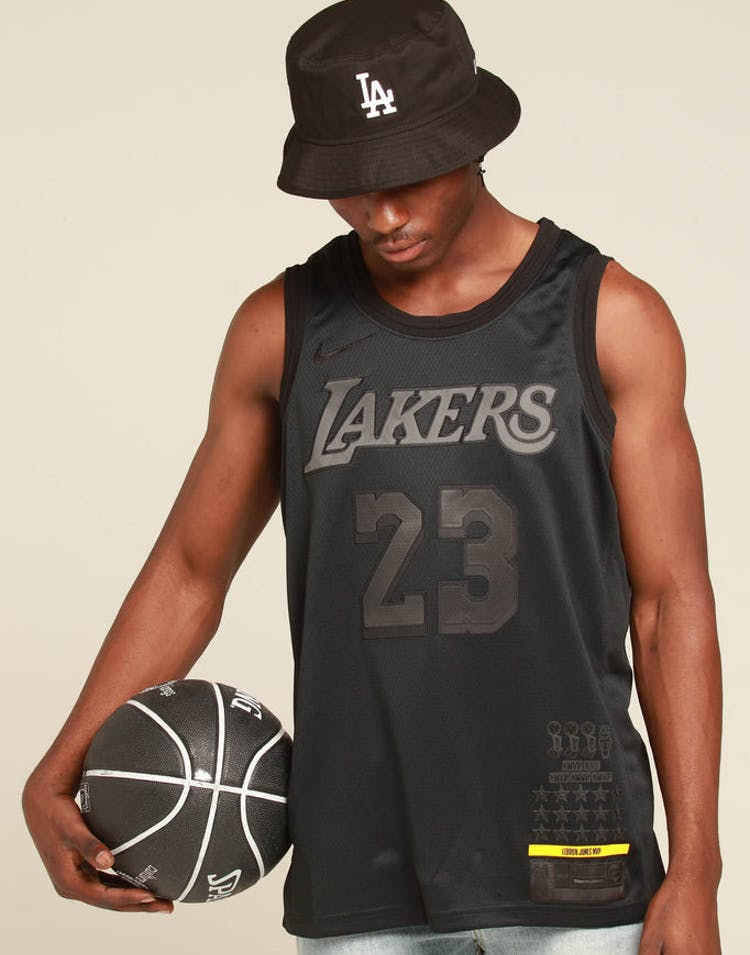 wholesale dealer 5a5a5 d314f Nike Los Angeles Lakers Lebron James MVP Swingman Black