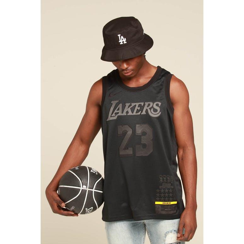 wholesale dealer e9ae8 6c04c Nike Los Angeles Lakers Lebron James MVP Swingman Black