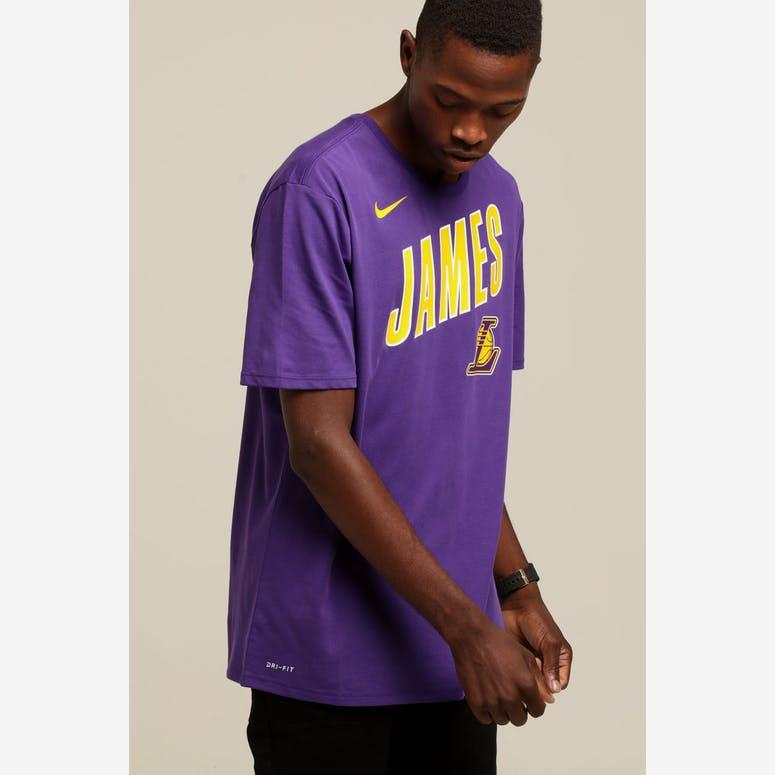 1b27d32c10f Nike Los Angeles Lakers LeBron James  23 Dri Fit Tee Purple – Culture Kings