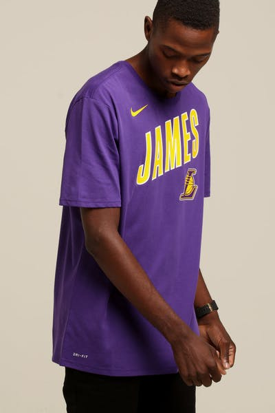 7eafc2727819 Nike Los Angeles Lakers LeBron James  23 Dri Fit Tee Purple