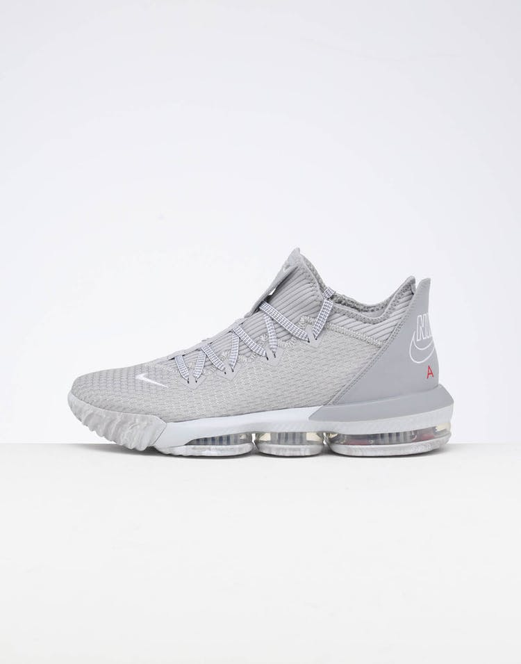 33c2f954a455 Nike Lebron XVI Low CP Wolf Grey/White/Platinum/University Red – Culture  Kings