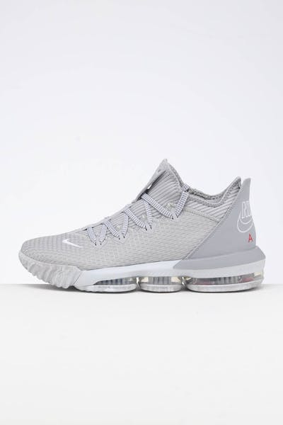 info for 8d0cd a8517 Nike Lebron XVI Low CP Wolf Grey White Platinum University Red