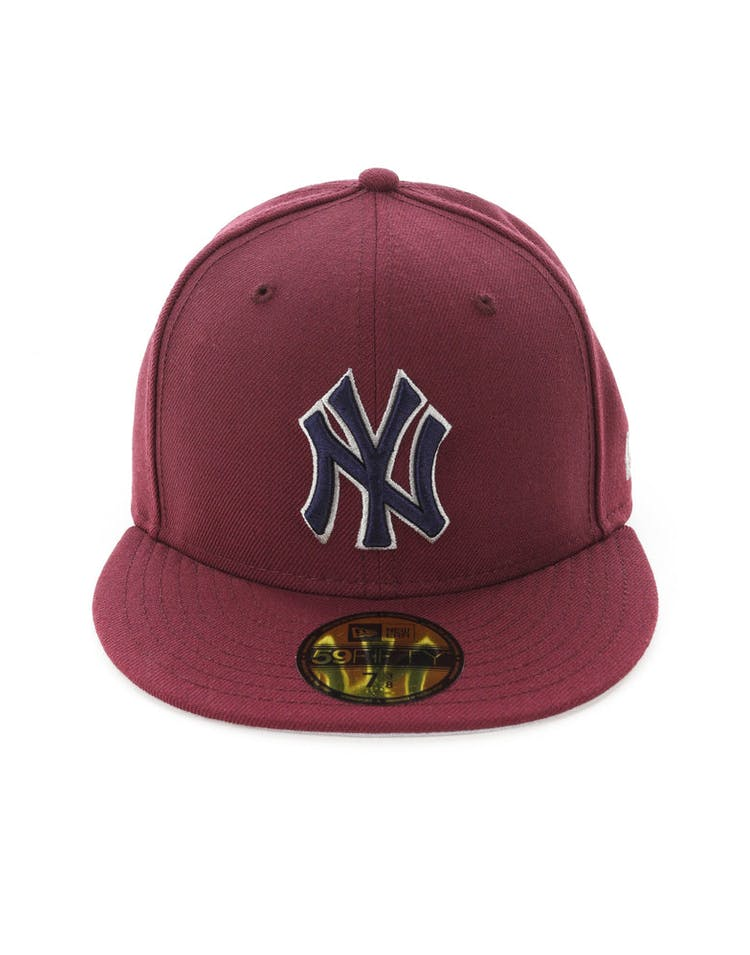59a379f971c69 New Era New York Yankees 59FIFTY Fitted Maroon – Culture Kings