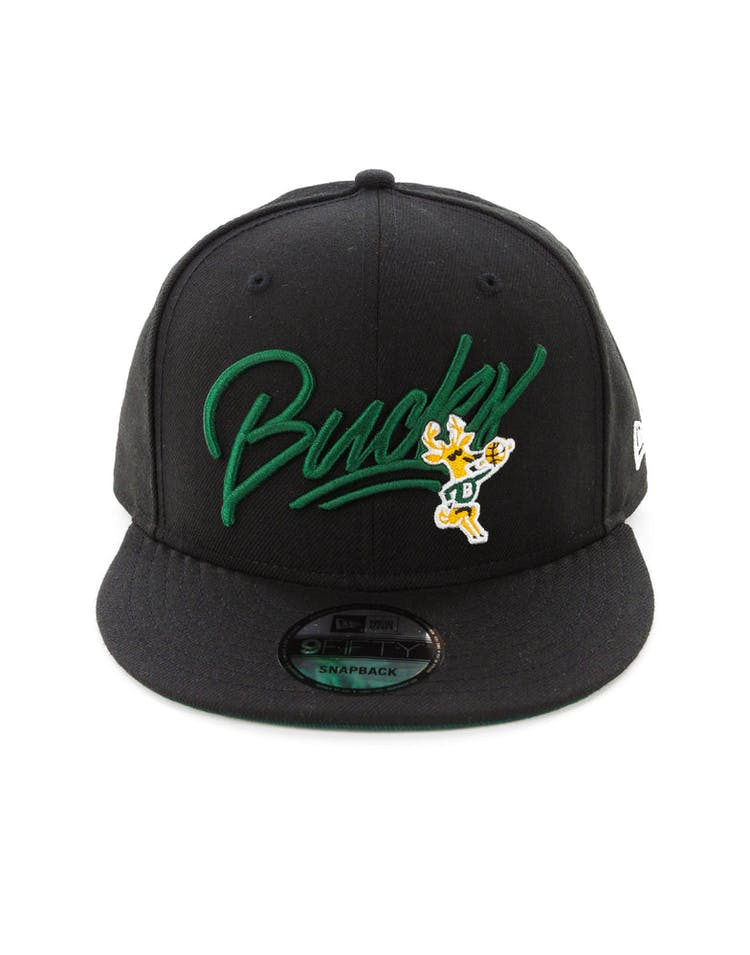 quality design 8f5d4 28a85 New Era Milwaukee Bucks 9FIFTY Snapback Black – Culture Kings