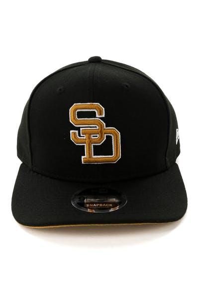 size 40 9fec0 0c320 New Era San Diego Padres 9FIFTY Original Fit Snapback Black ...