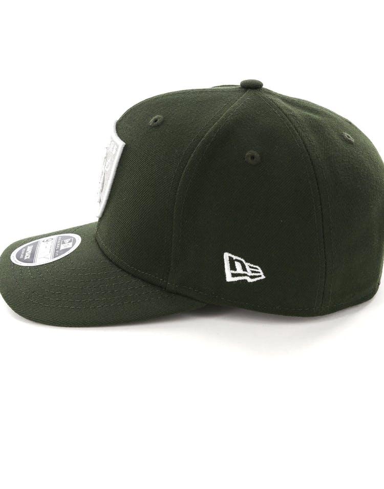 hot sale online aa33c a642b New Era Raiders 9Fifty Original Fit Snapback Dark Green