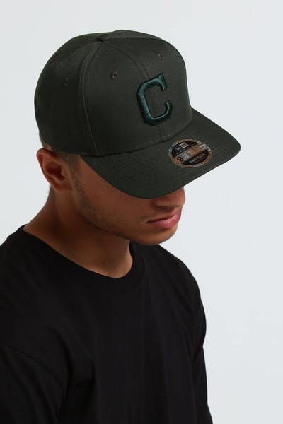 New Era Cleveland Indians 9Fifty Original Fit Snapback Seaweed