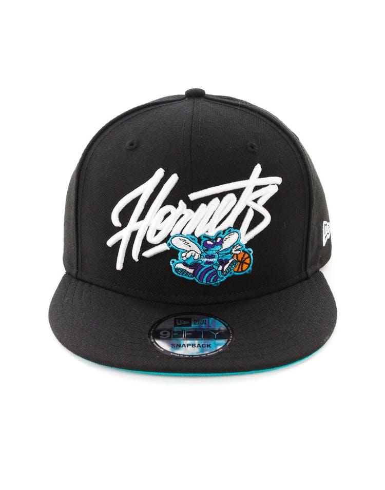 2f1d1434 New Era Charlotte Hornets 9FIFTY Snapback Black – Culture Kings