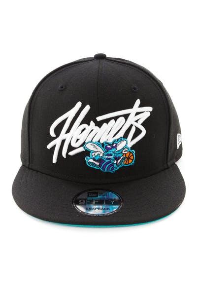 4a7243f8a New Era Charlotte Hornets 9FIFTY Snapback Black