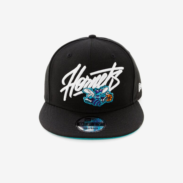 79d18e8cd92 New Era Charlotte Hornets 9FIFTY Snapback Black – Culture Kings